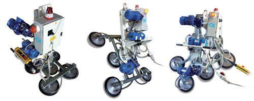 CIT Service - Ventose Vetro: ventosa vetro con rotazione e basculamento elettrico