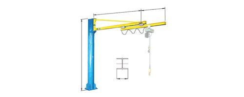 CIT Service - Gru: gru a bandiera a colonna con braccio sfilabile elettricamente - CM2 TSE