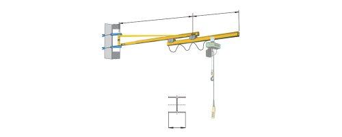 CIT Service - Gru: gru a bandiera a mensola con braccio sfilabile elettricamente - CMM2 TSE